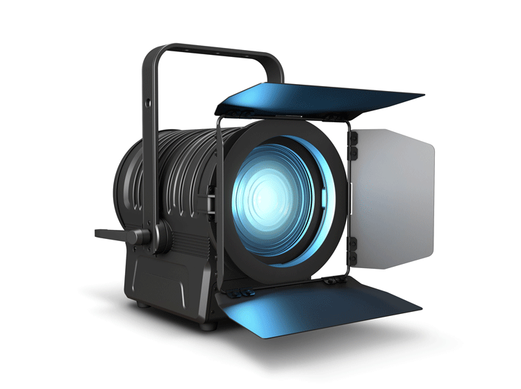 Cameo Theater Scheinwerfer Fresnel 200W 6in1 LED